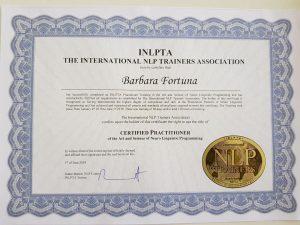 NLP certifikat Barbara Fortuna